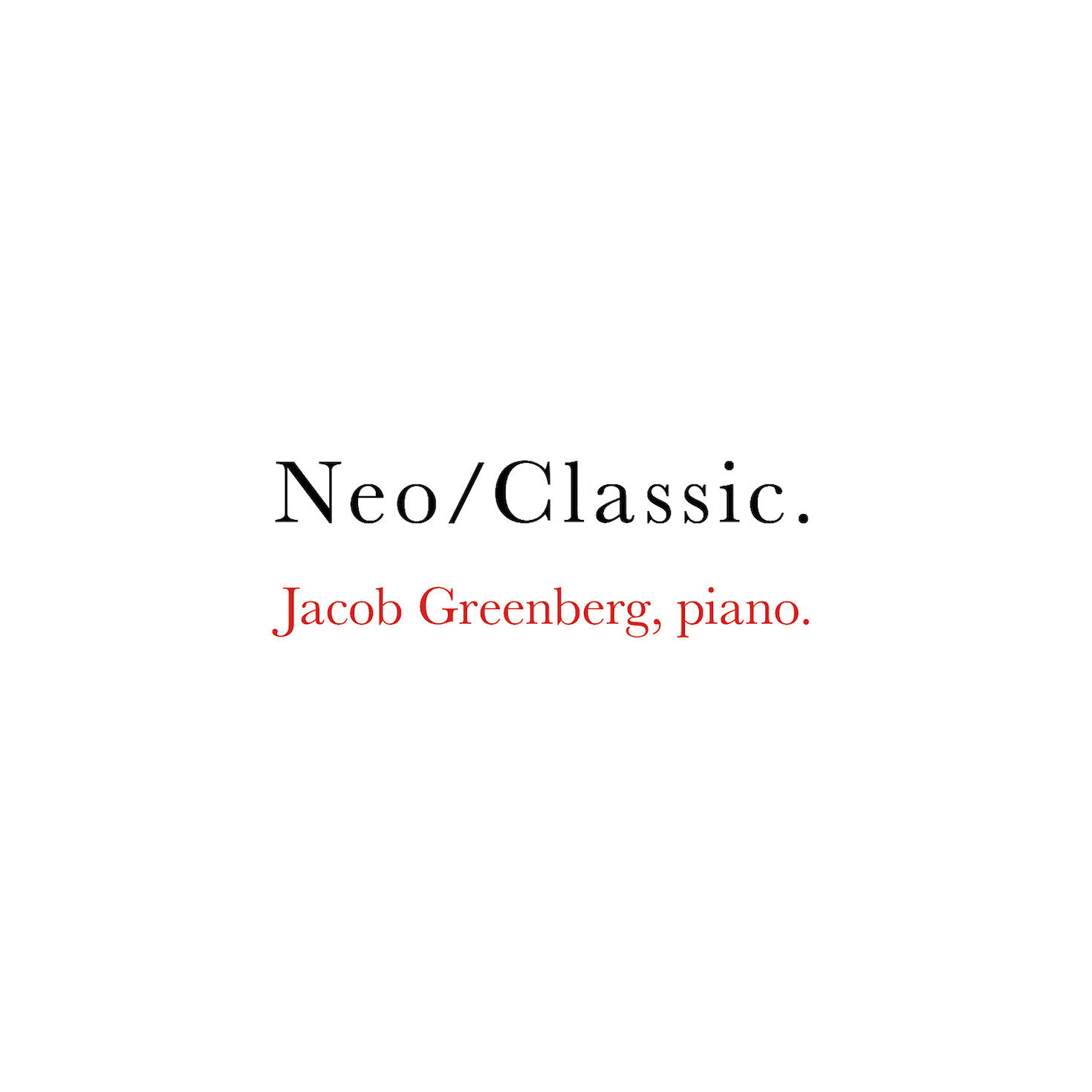 Jacob Greenberg: Neo/Classic cover